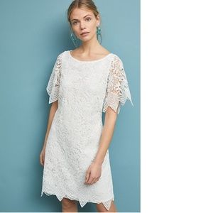 new Anthropologie Charleston Lace Mini Dress